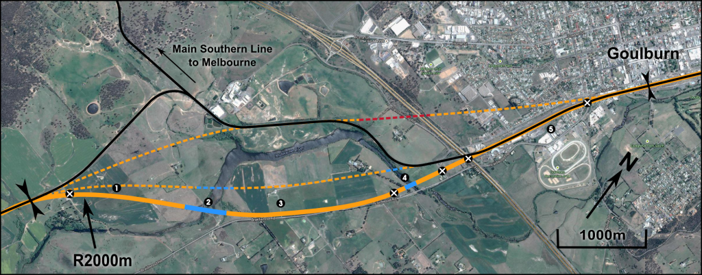 Goulburn approach plan - click to enlarge