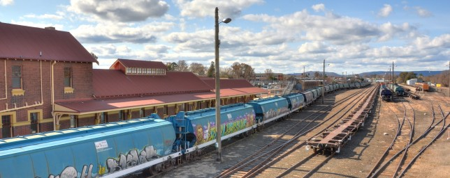 Looking Sydney-bound (north-east) from Goulburn Station. Image: Hot Rails