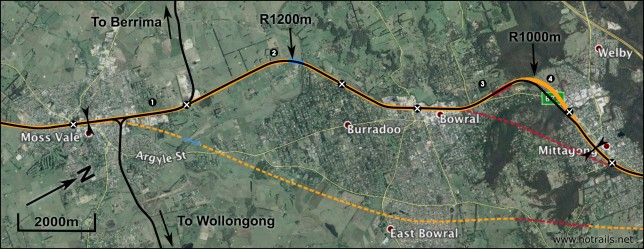 Bowral and Mittagong section plan - click to enlarge
