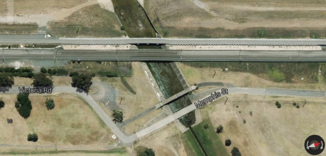 Culvert bridge over Bow Bowing creek, Minto. Image: Google Maps